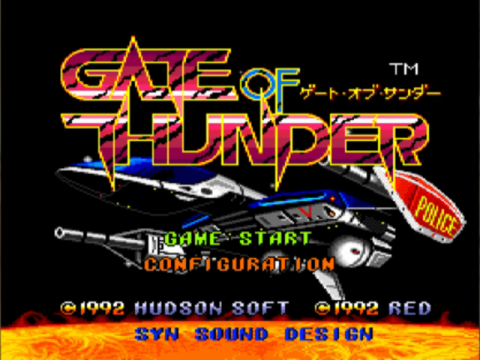 Gate of Thunder title screenshot