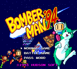 Bomberman '94 title screenshot