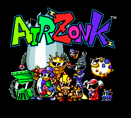 Air Zonk title screenshot
