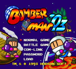 Bomberman '93 title screenshot
