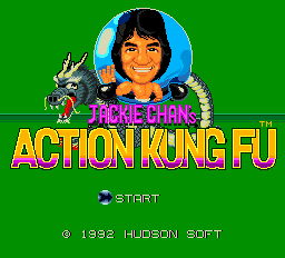 Jackie Chan's Action Kung Fu title screenshot