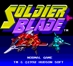 Soldier Blade title screenshot