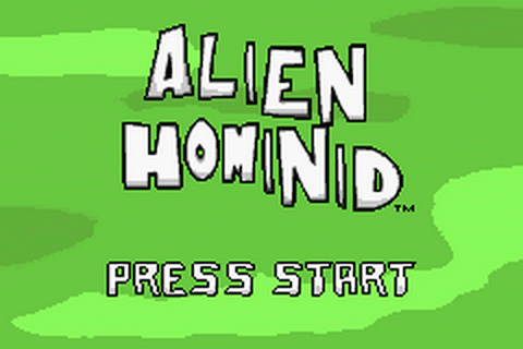 Alien Hominid title screenshot