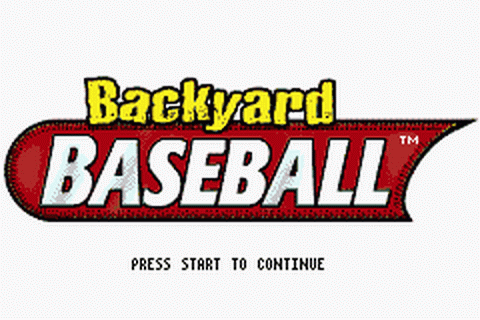 Backyard Baseball title screenshot