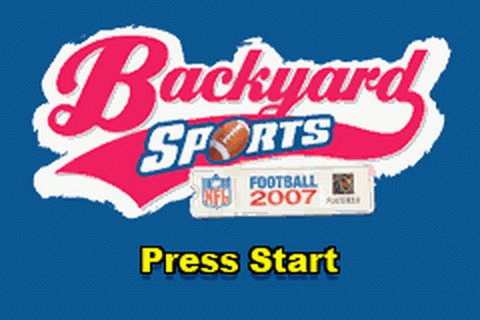 Backyard Sports - Football 2007 title screenshot