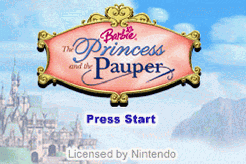 Barbie - The Princess and the Pauper title screenshot
