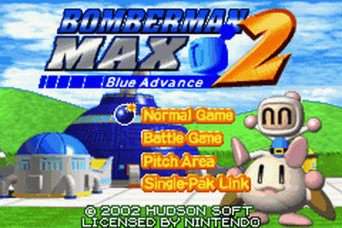 Bomberman Max 2 - Blue Advance title screenshot