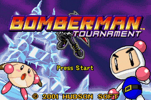 Bomberman Tournament title screenshot