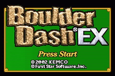 Boulder Dash EX title screenshot
