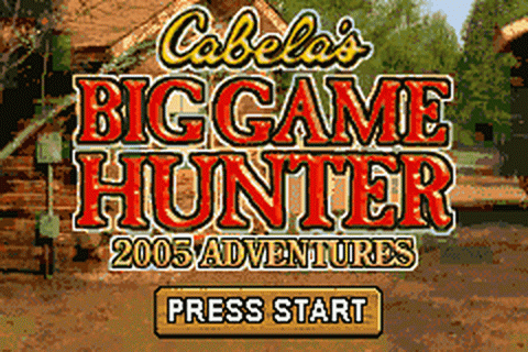 Cabela's Big Game Hunter - 2005 Adventures title screenshot