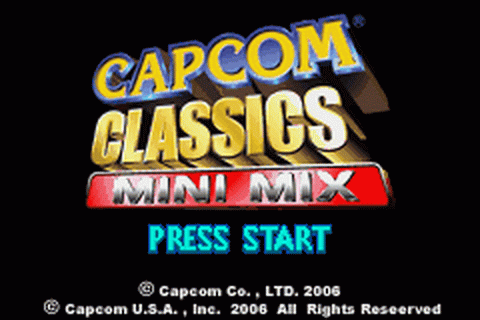 Capcom Classics Mini Mix title screenshot