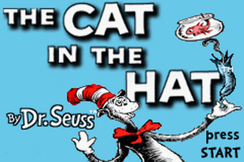 Cat in the Hat by Dr. Seuss, The title screenshot
