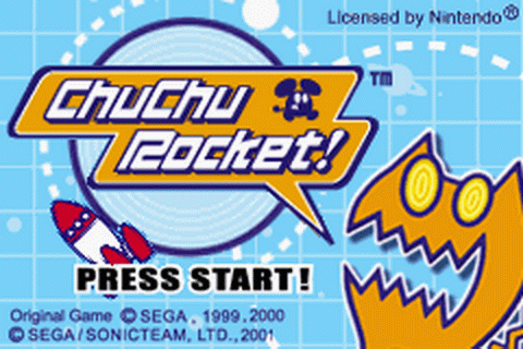 ChuChu Rocket! title screenshot