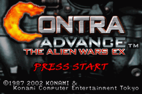 Contra Advance - The Alien Wars EX title screenshot