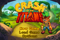 Crash of the Titans title screenshot