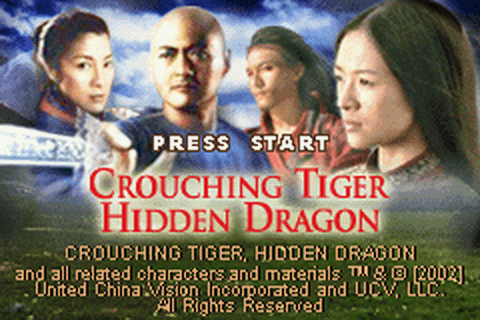Crouching Tiger, Hidden Dragon title screenshot