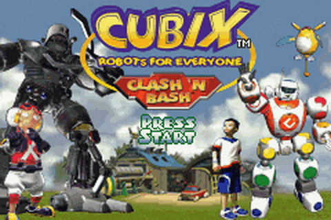 Cubix - Robots for Everyone - Clash 'N Bash title screenshot