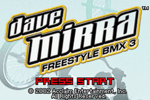 Dave Mirra Freestyle BMX 3 title screenshot