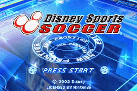 Disney Sports - Soccer title screenshot