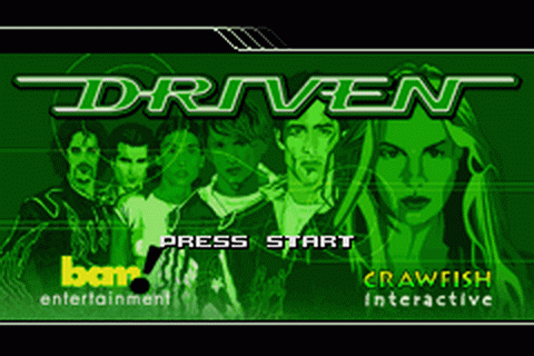 Driven title screenshot