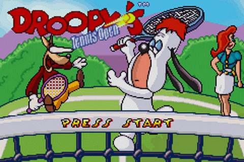 Droopy's Tennis Open title screenshot