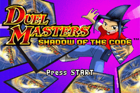 Duel Masters - Shadow of the Code title screenshot