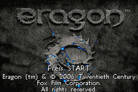 Eragon title screenshot