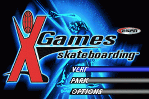 ESPN X-Games Skateboarding title screenshot
