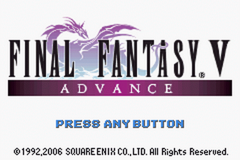 Final Fantasy V Advance title screenshot