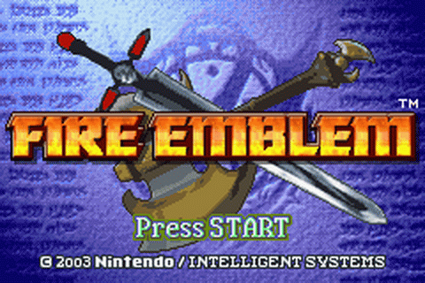 Fire Emblem title screenshot