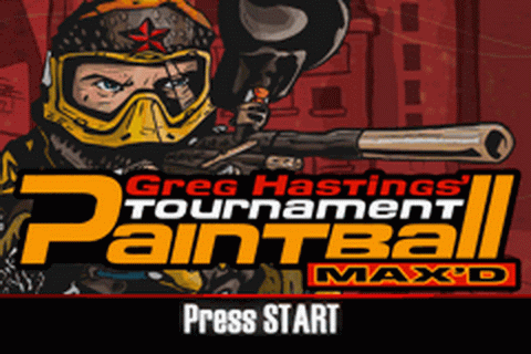 Greg Hastings' Tournament Paintball Max'd title screenshot