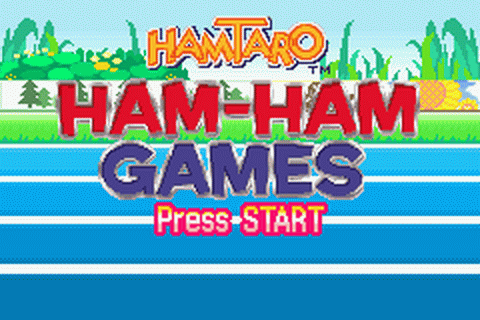 Hamtaro - Ham-Ham Games title screenshot