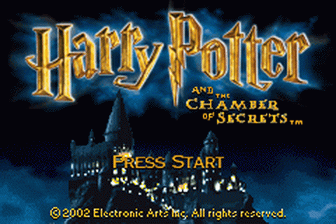 Harry Potter and the Chamber of Secrets title screenshot