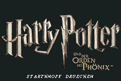 Harry Potter and the Order of the Phoenix title screenshot