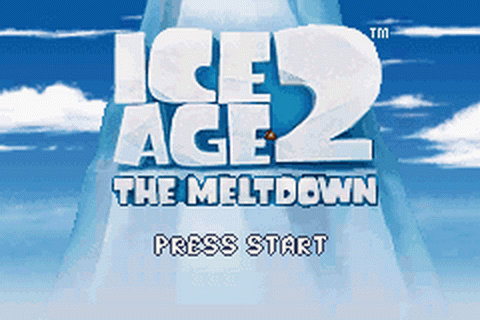 Ice Age 2 - The Meltdown title screenshot