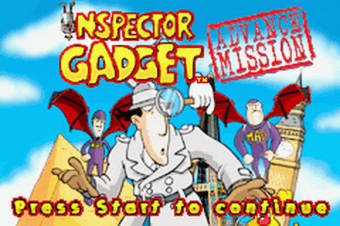 Inspector Gadget - Advance Mission title screenshot