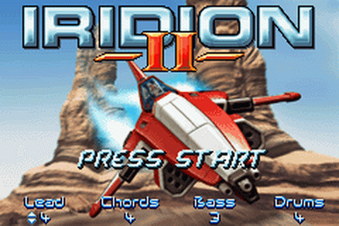 Iridion II title screenshot