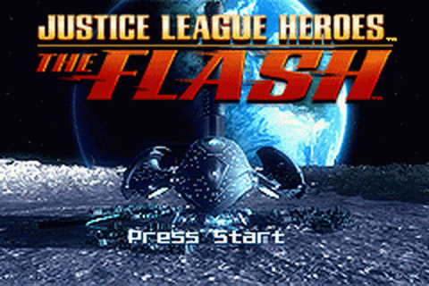 Justice League Heroes - The Flash title screenshot