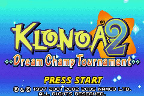 Klonoa 2 - Dream Champ Tournament title screenshot