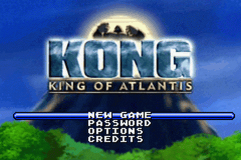 Kong - King of Atlantis title screenshot