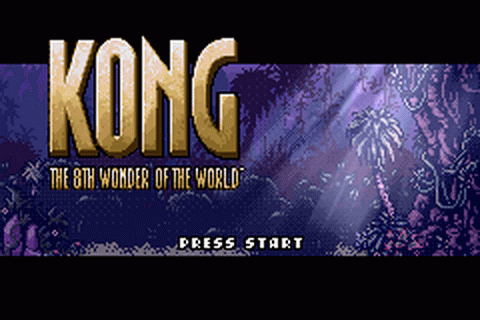 Kong - The 8th Wonder of the World title screenshot