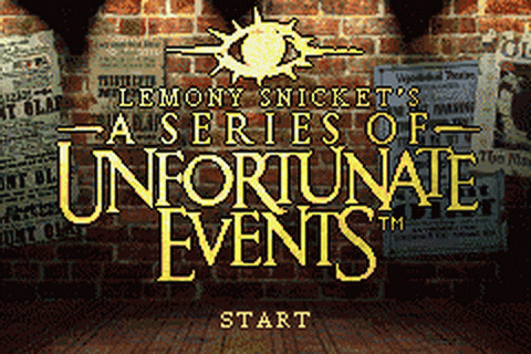 Lemony Snicket's A Series of Unfortunate Events title screenshot