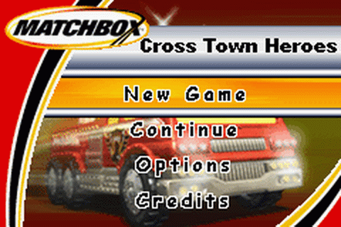 Matchbox Cross Town Heroes title screenshot