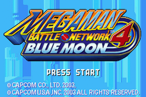 Mega Man Battle Network 4 - Blue Moon title screenshot