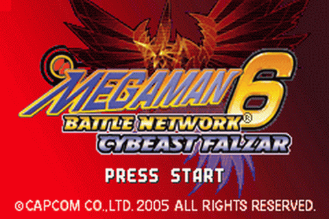 Mega Man Battle Network 6 - Cybeast Falzar title screenshot