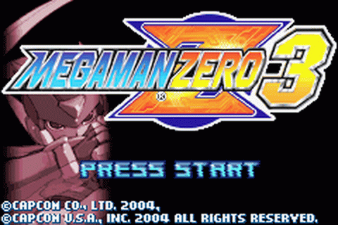 Mega Man Zero 3 title screenshot