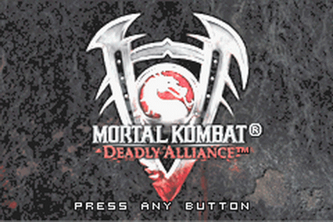 Mortal Kombat - Deadly Alliance title screenshot