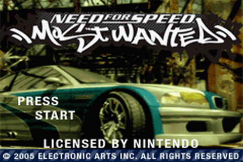Need for Speed - Most Wanted title screenshot