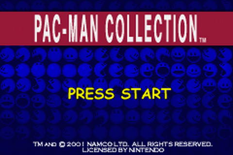 Pac-Man Collection title screenshot
