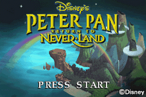 Peter Pan - Return to Neverland title screenshot